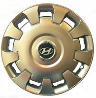 Колпаки R15 Hyundai серебро - (SJS 303) - комплект (4 шт.)