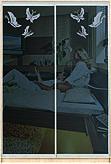 Шафа-купе Дзеркало тоноване графіт +художнє матування