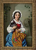 Набор для вышивки бисером Девушка с кувшином КИТ 50415