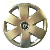 Колпаки R15 Hyundai серебро - (SJS 308) - комплект (4 шт.)
