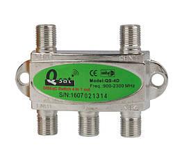 Переключатель DiSEqC 4x1 Q-sat QS-4D - 150771