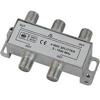Разветвитель Germany Splitter 4-WAY 5-1000MHZ корпус металлический R150780