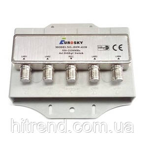 Коммутатор DiSEqC 2.0 4x1 Eurosky DSW-4130 в кожухе - 150760