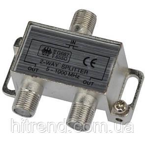 Разветвитель Splitter 2-WAY Germany 5-1000MHZ корпус металл - 150772