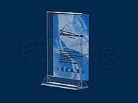 Менюхолдер формата А5 вертикальный, акрил 1,8мм