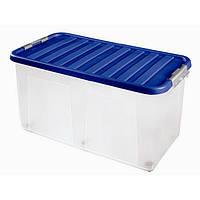 Контейнер для хранения пластиковый на колесах, 100 л, 80*40*40 см, Heidrun 1617
