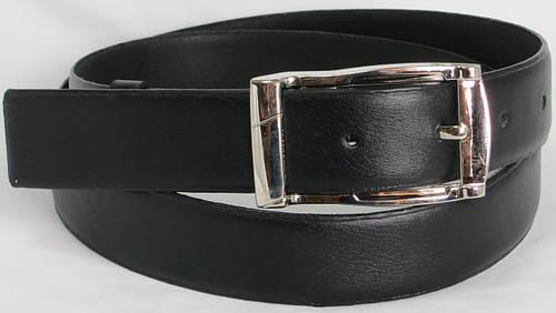 Ремень мужской брючный Alon 5557 чёрный ДхШ: 123х3,5 см.