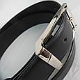 Ремень мужской брючный Alon 5557 чёрный ДхШ: 123х3,5 см., фото 3
