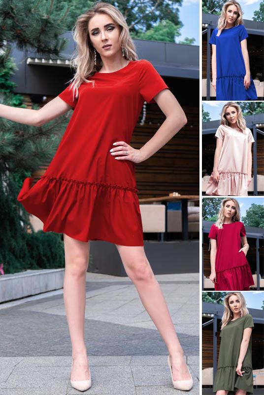 Однотонное летнее платье Розетта