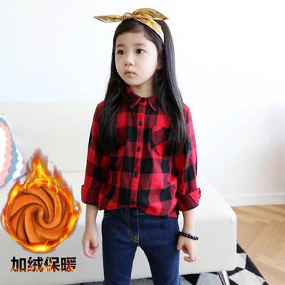 Детская рубашка в клетку на девочку, фото 2