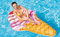 """Надувной Плотик 58762 EU """"Мороженое Рожок"""" Intex размером 224х107см, от 12-ти лет"""
