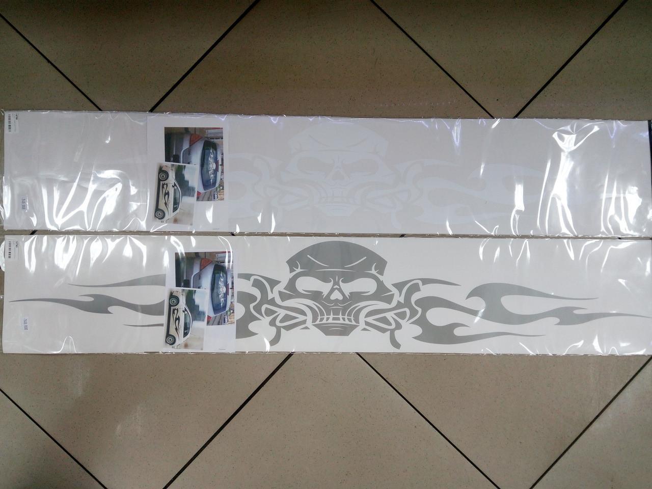 Виниловые наклейки  ТАТУ ЧЕРЕП  97х16,5 см