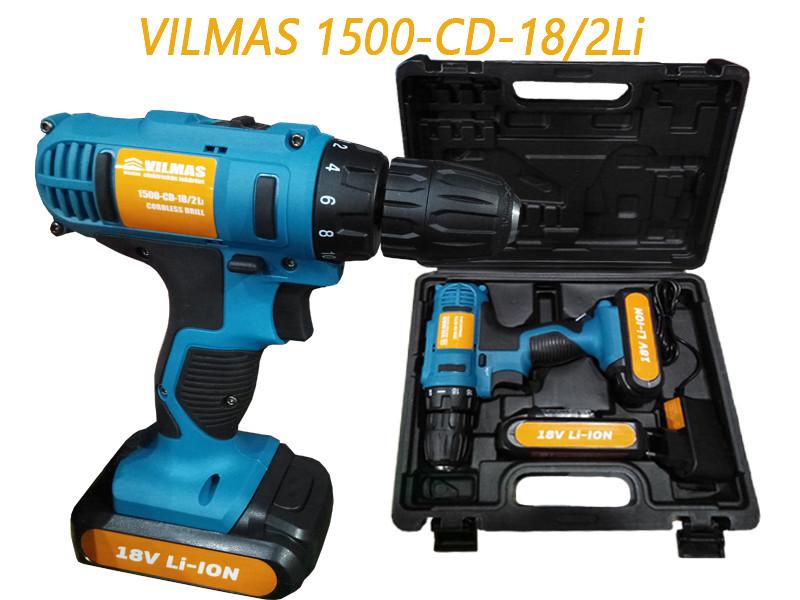 Шуруповерт аккумуляторный Vilmas 1500-CD-18/2 Li