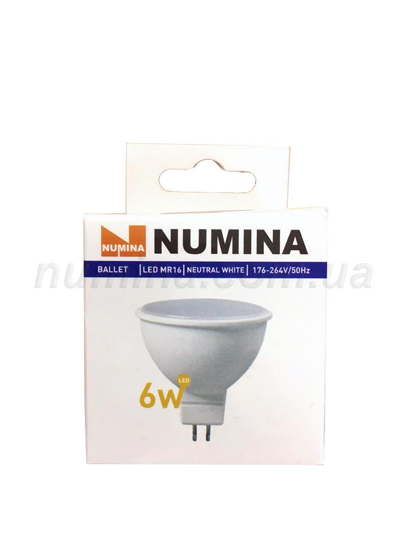 Светодиодная лампа LAMP картон WHITE MR16 6W GU5.3 4000K