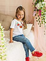 Футболка вышиванка детская для девочки, Вишиванка дівчача, р-р 92-152