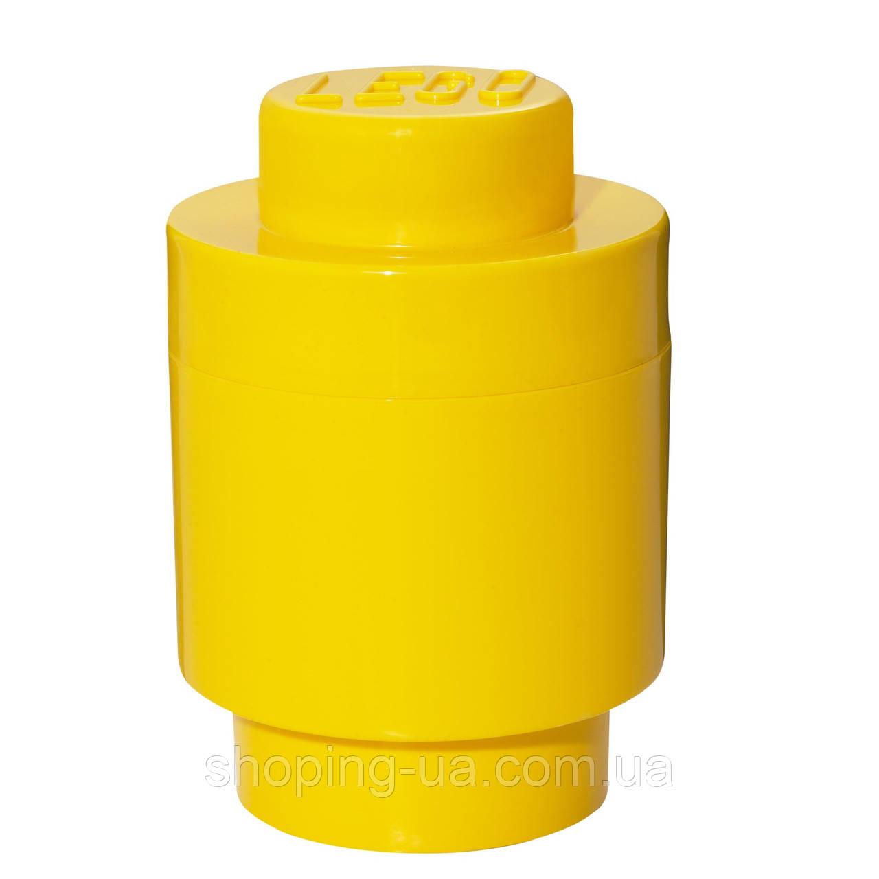 Одноточечный круглый желтый контейнер для хранения Lego 40301732
