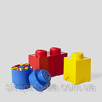 Одноточечный круглый желтый контейнер для хранения Lego 40301732, фото 2