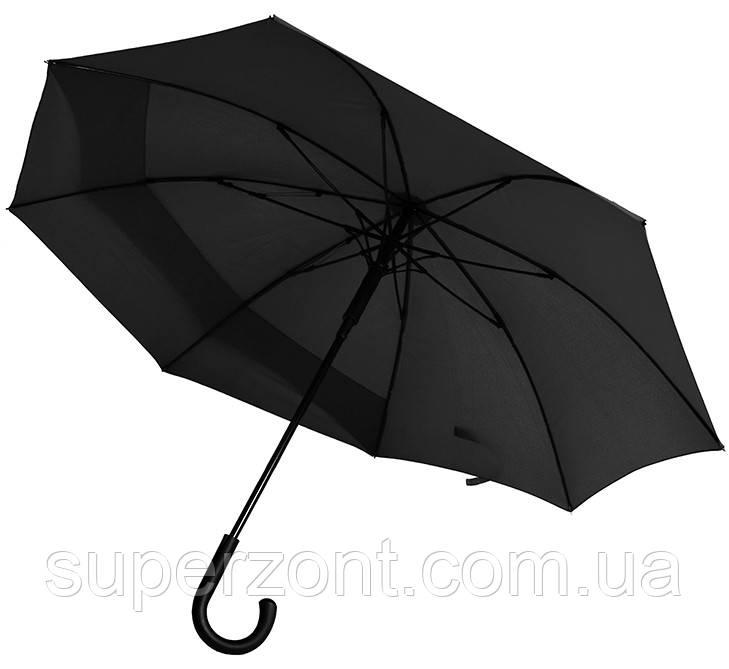 Женский зонт-трость Bergamo  45250-3, полуавтомат, черный