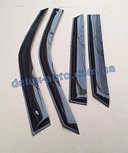 Ветровики Cobra Tuning на авто Mercedes Benz C-klasse Coupe C204 2011 Дефлекторы окон Кобра для Серседес С