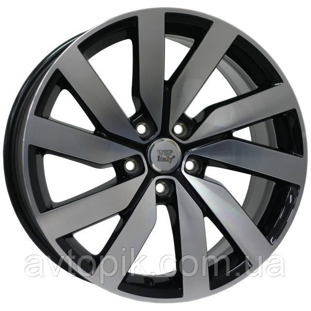 Литые диски WSP Italy Volkswagen (W468) Cheope R18 W8 PCD5x112 ET44 DIA57.1 (gloss black)