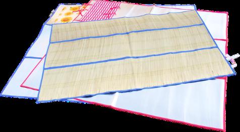 Пляжный коврик-сумка фольга с соломкой 150*180, коврик для пляжа