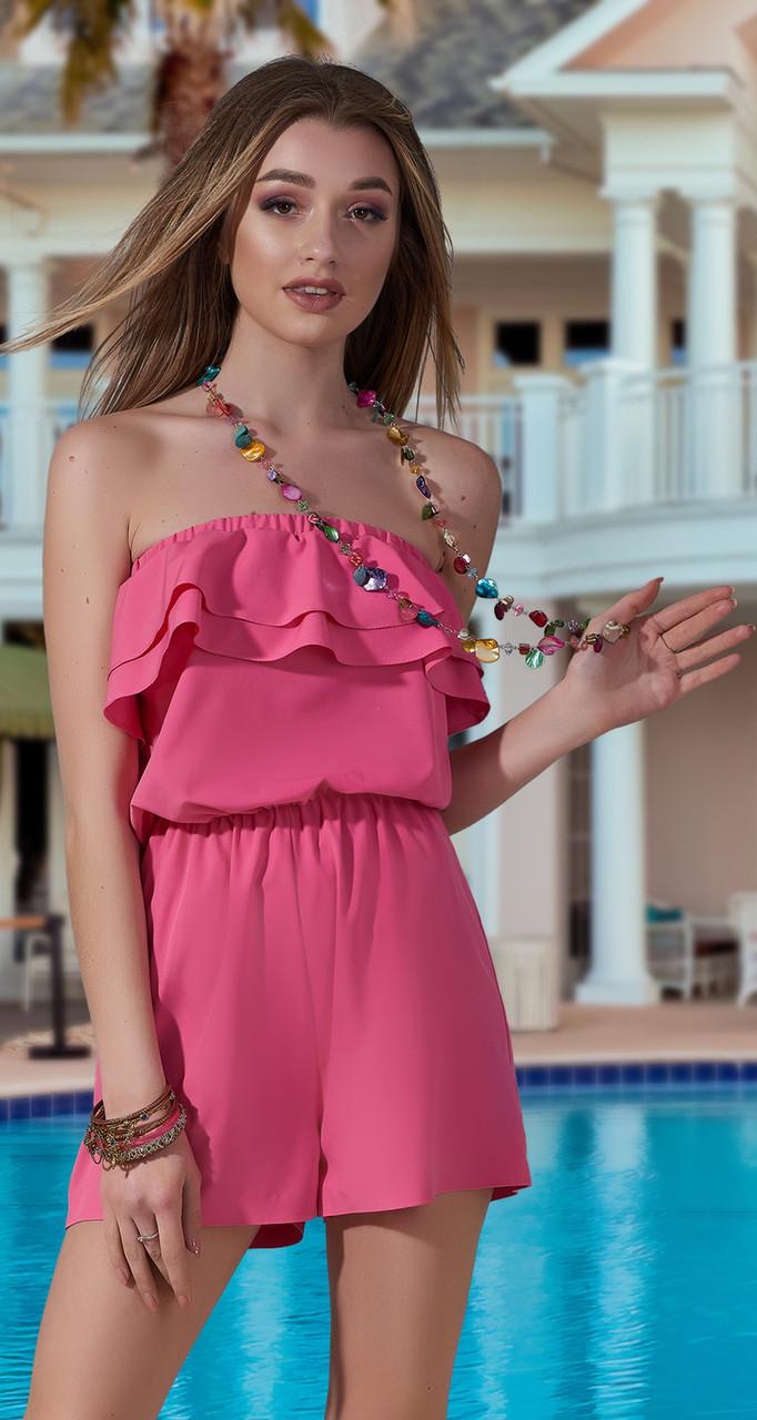 Модный женский комбинезон с шортами