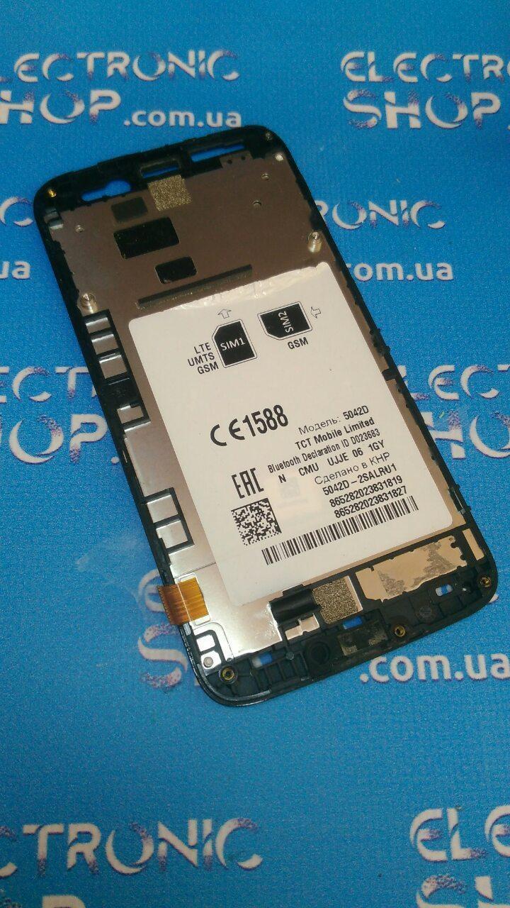 Дисплей в рамці Alcatel 5042D оригінал б.у