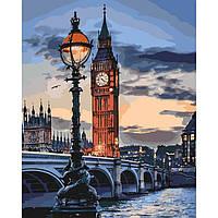 Картина по номерам на холсте Лондон в сумерках, KHO3555