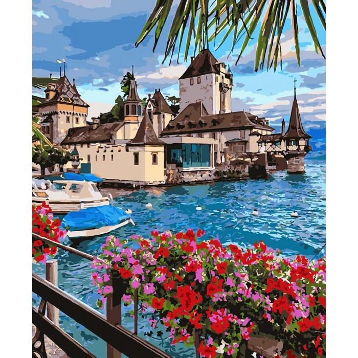 Картина по номерам на холсте Волшебная Швейцария, KHO2253