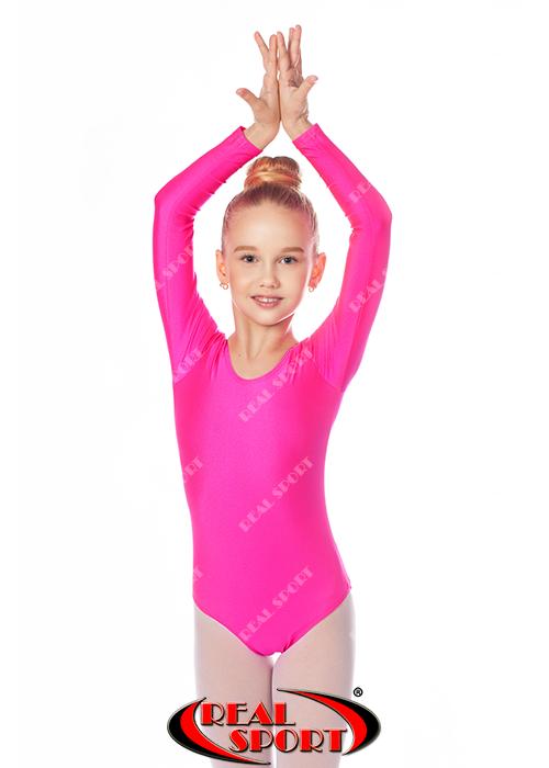 Купальник для танцев, розовый GM030103(бифлекс, р-р 1-XL, рост 98-155см)