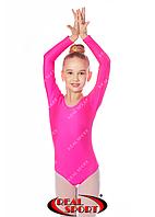 Купальник для танцев, розовый GM030103(бифлекс, р-р 1-XL, рост 98-155см), фото 1