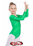 Купальник для художественной гимнастики, зеленый RS GM030111 (бифлекс, р-р 1-XL, рост 98-155см)