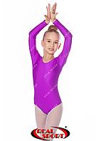 Купальник для художественной гимнастики, фиолетовый RS GM030109 (бифлекс, р-р 1-XL, рост 98-155см), фото 1
