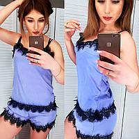 Пижама женская шёлковая, фото 1