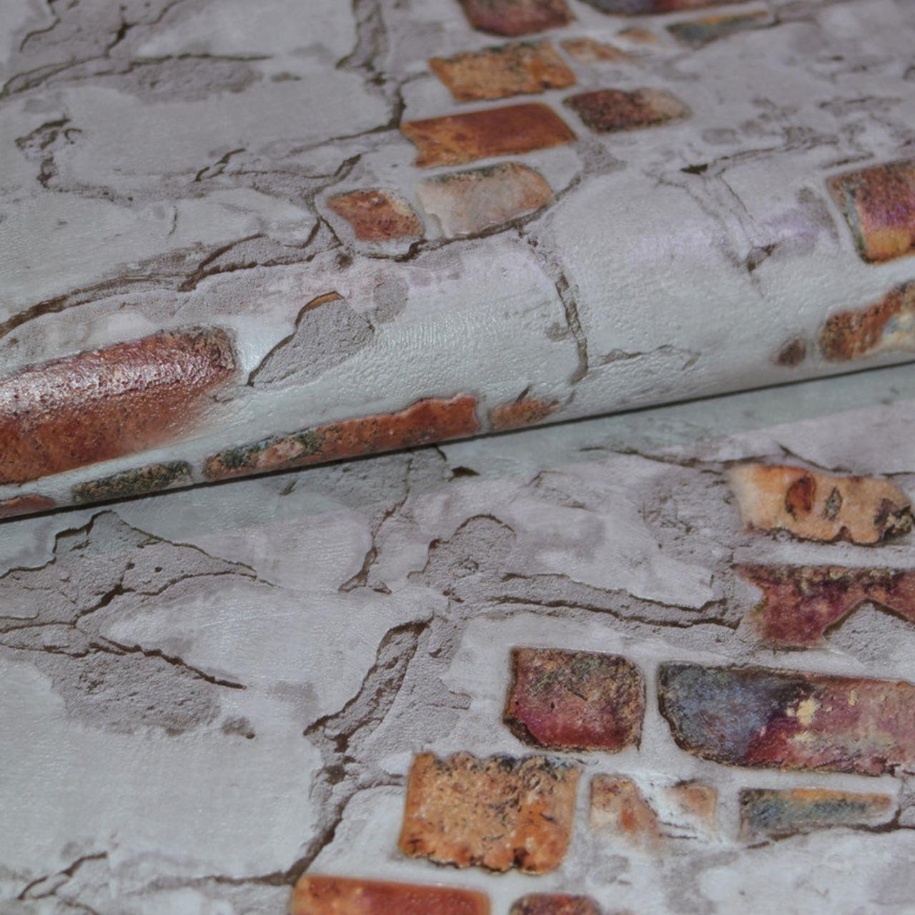 Обои, кирпич, на стену, виниловые, B49.4 Стена 5583-12,супер-мойка, 0,53*10м