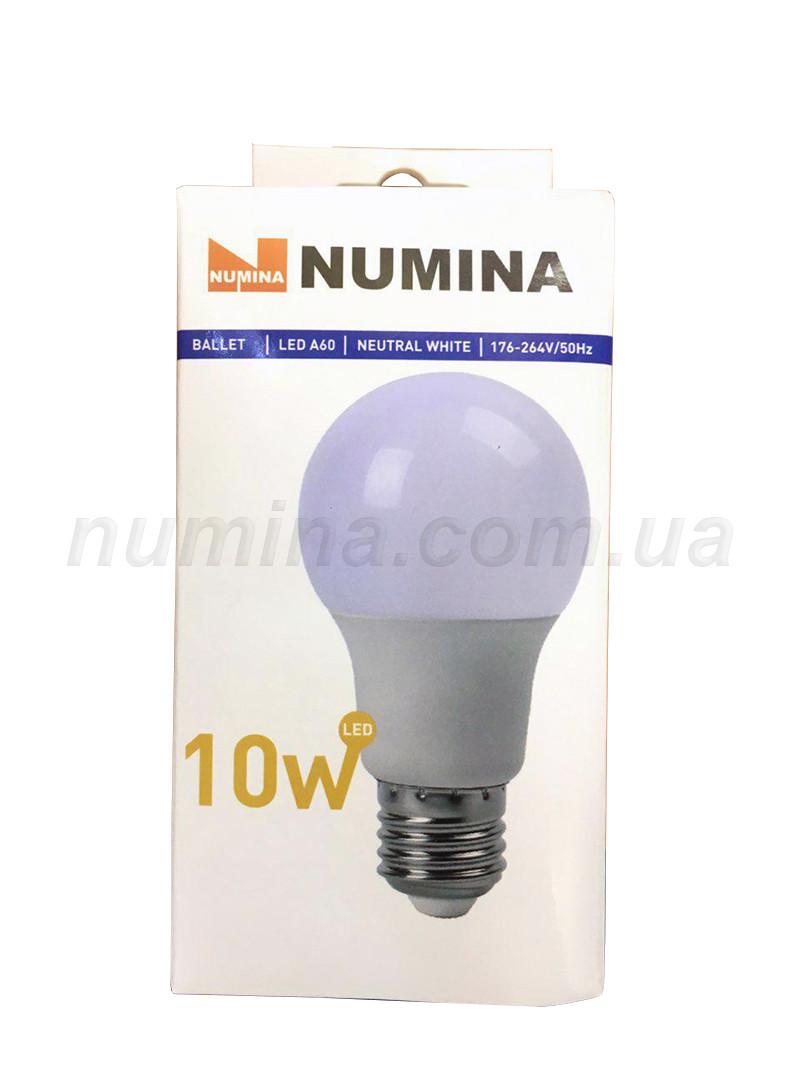 Світлодіодна лампа груша LAMP картон WHITE A60 10W E27 4000K