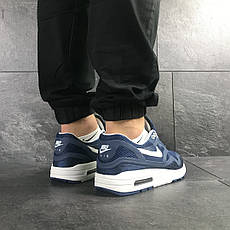 Мужские кроссовки Nike Air Max Zero QS,синие с белым, фото 3