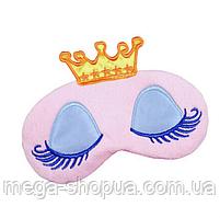 "Шелковая маска для сна ""Princess Pink"". Повязка для сна. Маска на глаза для сна. Маска для сну"