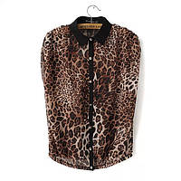 Леопардовая блузка- рубашка
