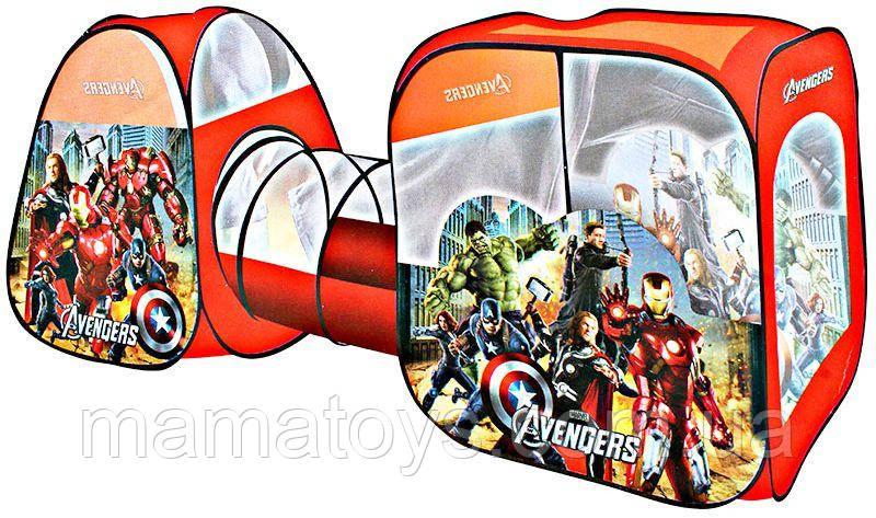 Детская Палатка с Туннелем  Супергерои 8015 AS  270-92-92 см