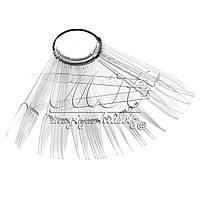 Веер-стилет для образцов на кольце, прозрачный