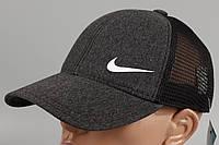 Кепка бейсболка стиль Nike темно-серая Размер Размеры 60 +/-, фото 1