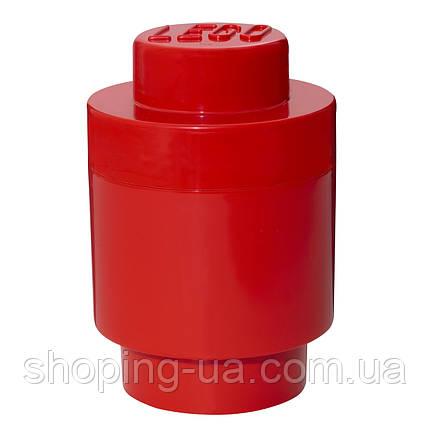 Одноточечный круглый красный контейнер для хранения Lego 40301730, фото 2