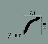 Карниз потолочный гладкий Orac Decor Axxent CX136 6,9 x 7,1 x200 см лепной декор из дюрополимера, фото 2