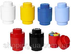 Одноточечный круглый красный контейнер для хранения Lego 40301730, фото 3