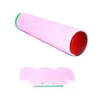 Штамп для стемпинга розовый (печать двухсторонняя/скрепер)