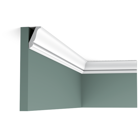 Карниз потолочный гладкий Orac Decor Axxent CX151 4,3 x 2,3 x200 см лепной декор из дюрополимера