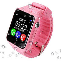 Cмарт-часы с GPS трекером и телефоном JETIX V7K Pink для детей и подростков