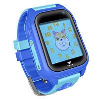 Детские водонепроницаемые смарт-часы с GPS JETIX DF30 Aqua Camera (Blue)