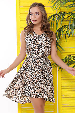 Летнее платье мини в леопардовый принт, фото 2